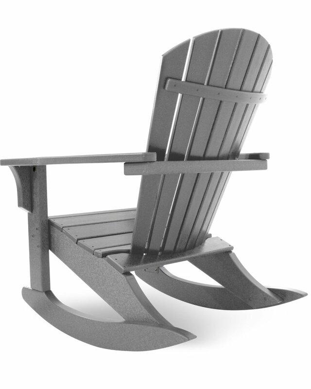 Plastic Rocking Adirondack Chair