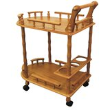 Madsen Casters Supported 2 Tier Kitchen Cart by Charlton Home®