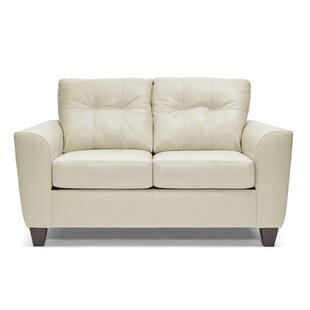 Compare Madore Leather Loveseat by Wrought Studio Reviews (2019) & Buyer's Guide