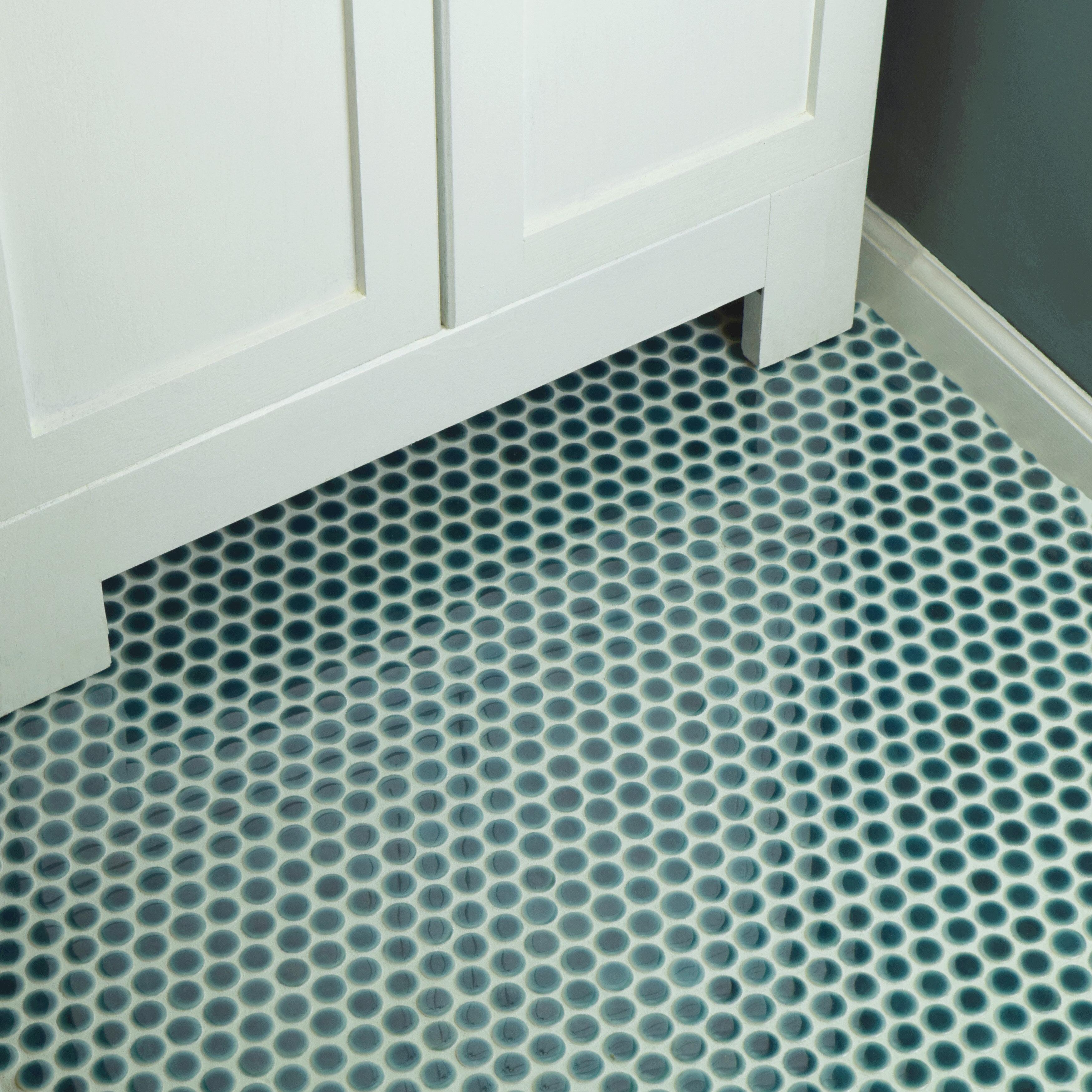 Elitetile Penny 0 8 X 0 8 Porcelain Mosaic Floor Use Tile Reviews Wayfair