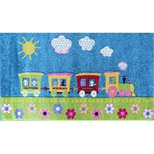 Train Blue/Green Rug by Hokku Designs