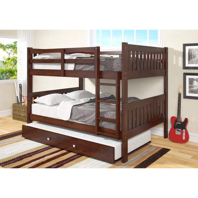 Harriet Bee Hargrave Full Over Full Bunk Bed With Trundle Reviews