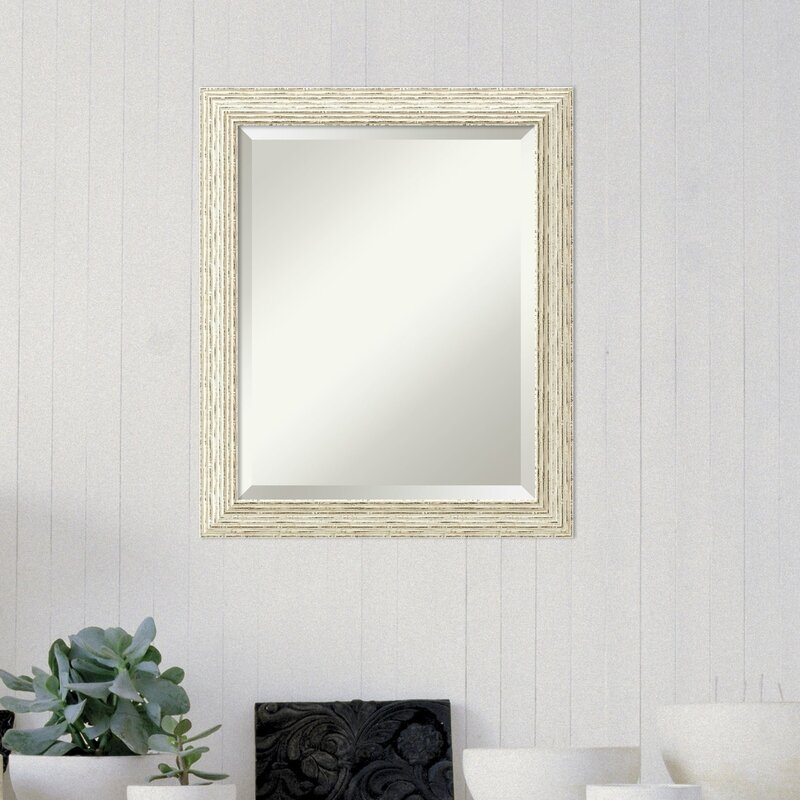 Rosecliff Heights Accent Rectangle White Wood Framed Medium Wall ...