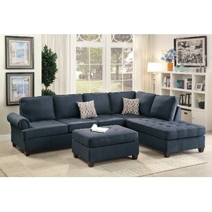 Reiche Reversible Sectional With Ottoman by Ebern Designs Best Choices