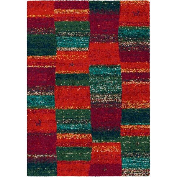 Longweave Teppich Tallulah In Rot Grun Wayfair De