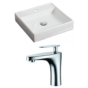 Great Price Ceramic Square Vessel Bathroom Sink with Faucet ByRoyal Purple Bath Kitchen
