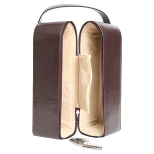 Personalized Garnett Genuine Leather Wine Case