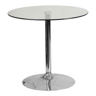 Delora Glass Bar Table by Orren Ellis Cool