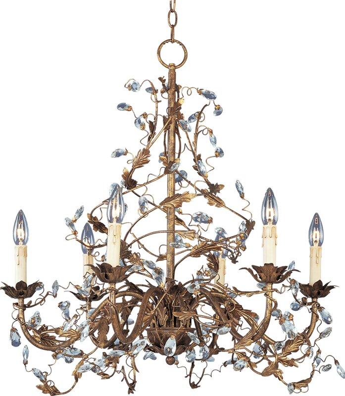 Bungalow Chandelier Part - 23: Kaiya 6-Light Candle-Style Chandelier