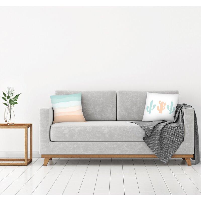 East Urban Home Jetty Printables 2 Piece Cactus Throw Pillow Insert Set