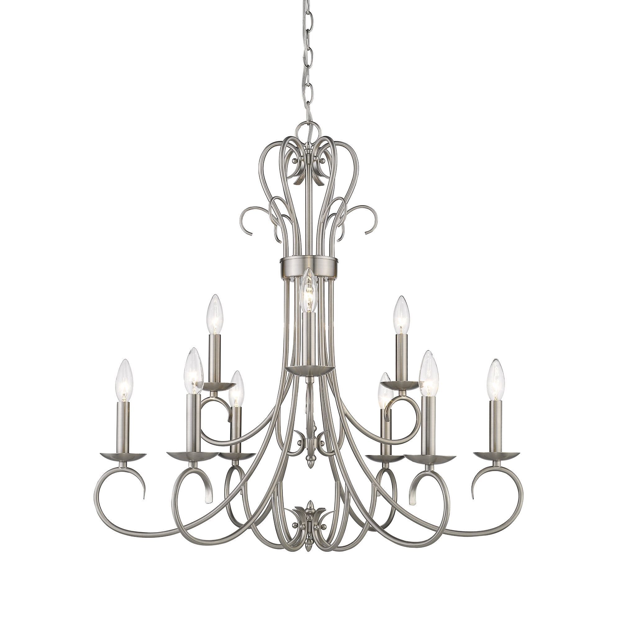 Alcott Hill Gaines 9 Light Candle Style Tiered Chandelier Reviews Wayfair