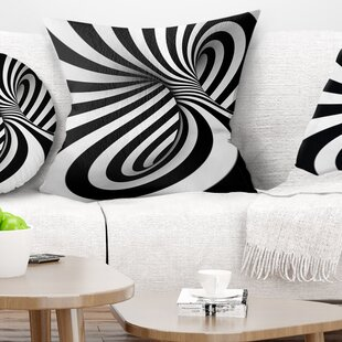 Spiral Throw Pillow by East Urban Home Great price