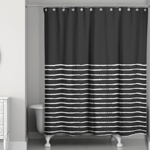 Confer Sketch Stripes Single Shower Curtain