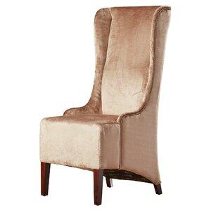 Arthurs Faux-Silk Velvet Wing Chair by Willa Arlo Interiors