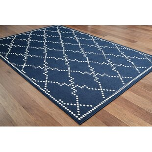 Castano Casual Navy Indoor/Outdoor Area Rug