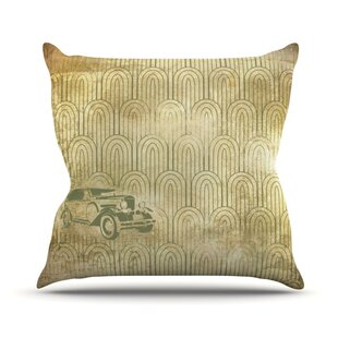 Deco Car Outdoor Throw Pillow