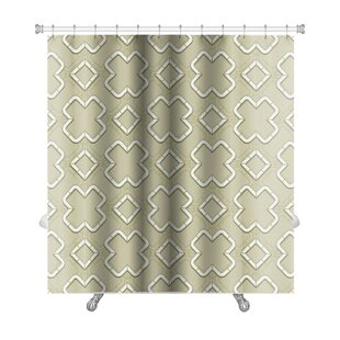 Creek Abstract Geometric Islamic Wallpaper Arabic Monochrome Pattern Lace Premium Single Shower Curtain
