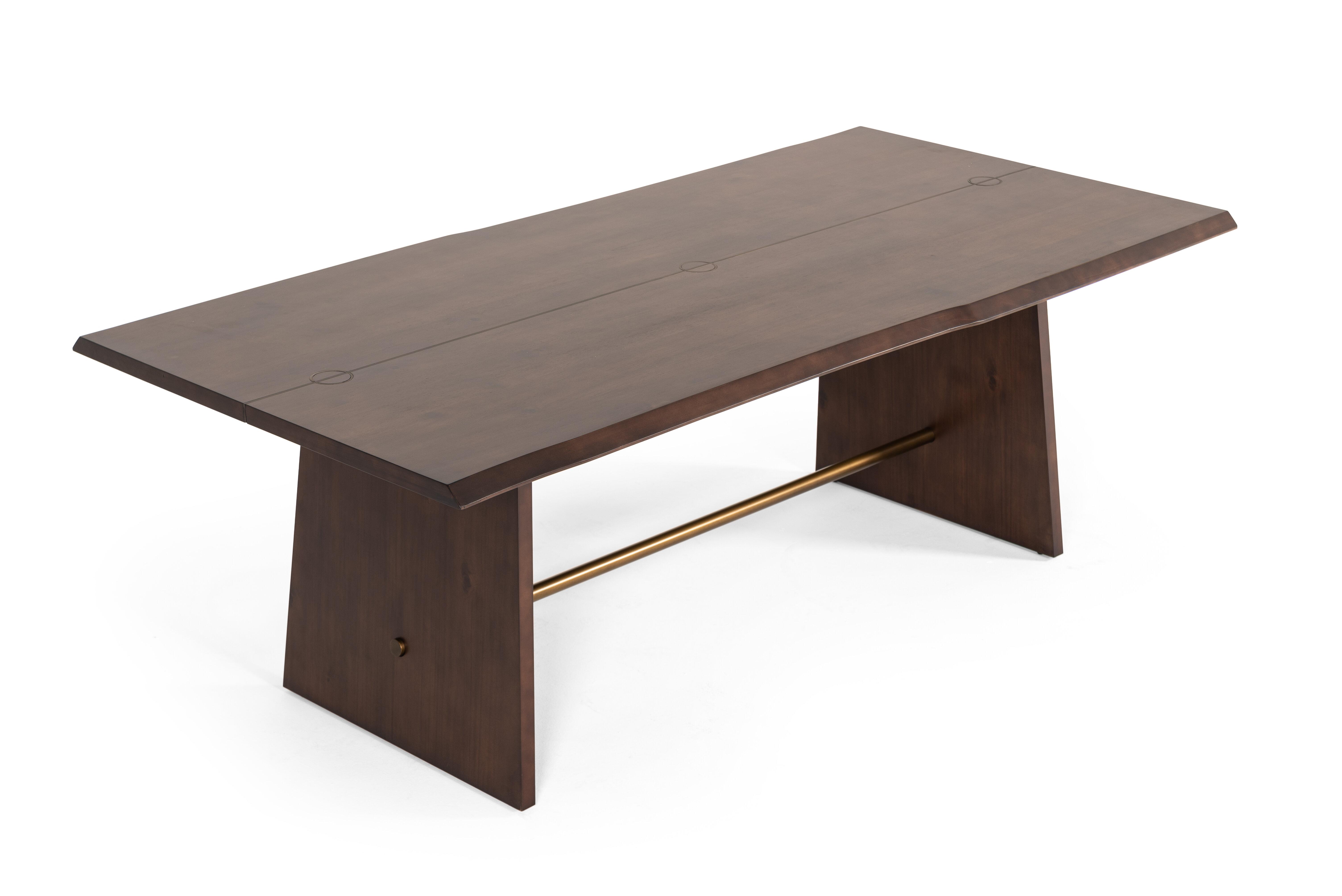 Genial Eatmon Acacia Dining Table