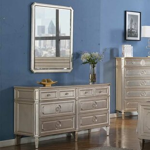 Brette 6 Drawer Double Dresser with Mirror