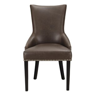 Leather Arm Chair (Set of 2) by Adeco Tra..