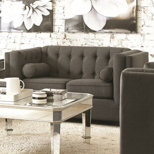 Ramses Modern Chesterfield Loveseat