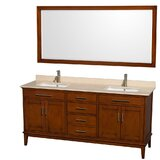 Hatton 72 Double Bathroom Vanity Set with Mirror by Wyndham Collection