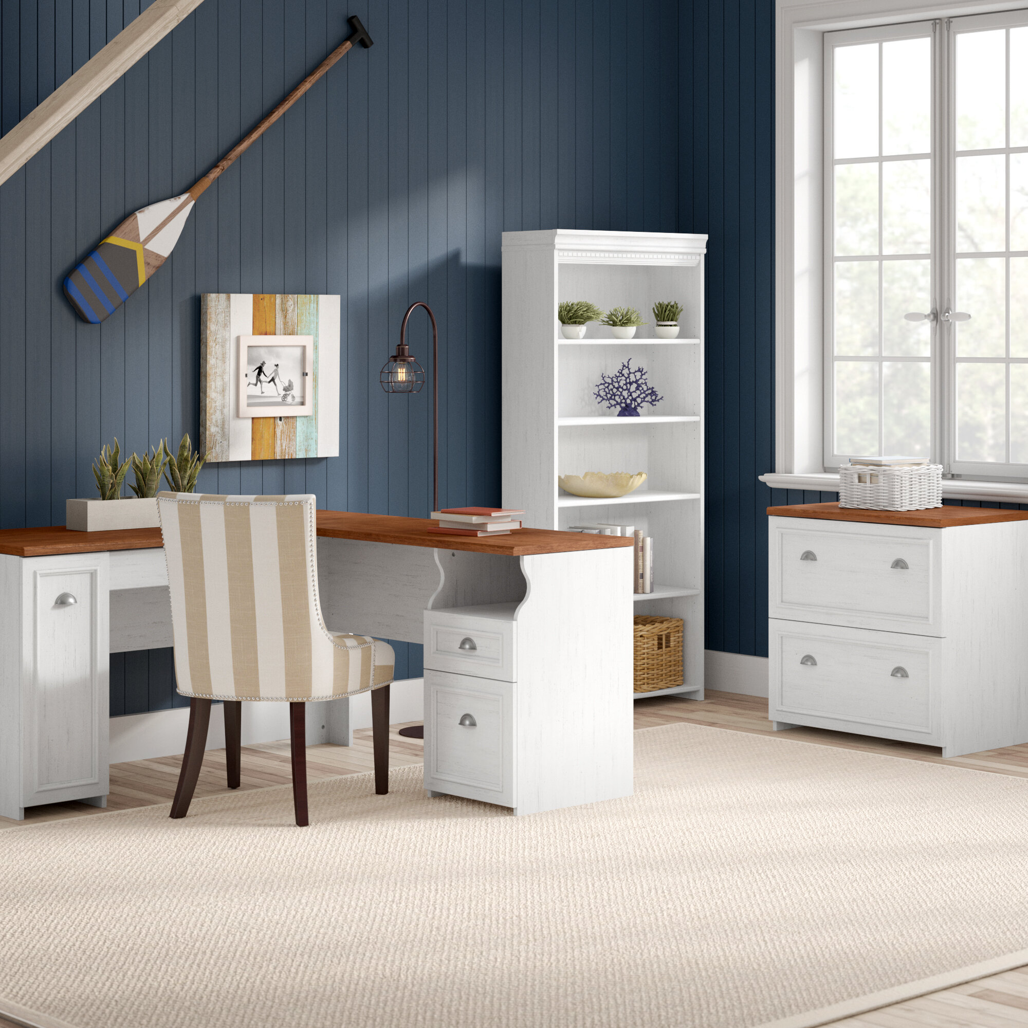 Beachcrest Home Oakridge Piece LShape Desk Office Suite Reviews - Oakridge bedroom furniture
