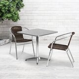 Mclendon Square 3 Piece Bistro Set