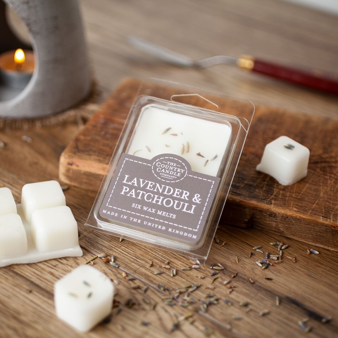 Lavender and Patchouli Scented Wax Melt