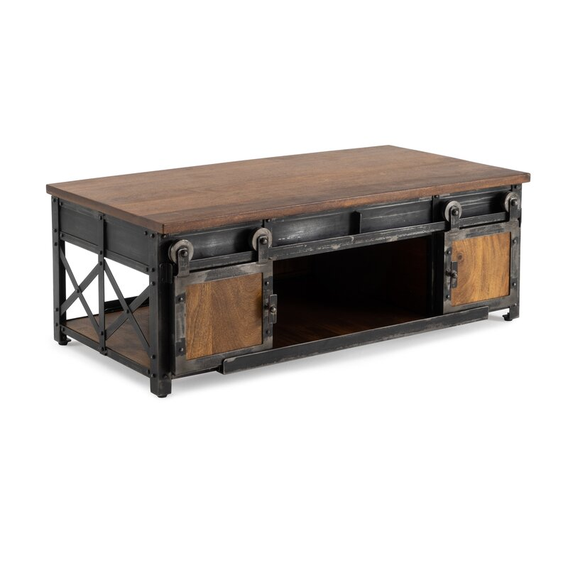 17 Stories Estella Coffee Table With Storage Amp Reviews