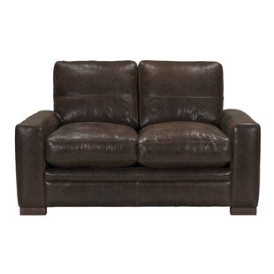 Bassham Top Grain Leather Loveseat