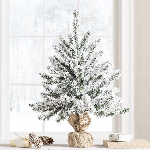 Artificial Christmas Tree Warehouse: The Holiday Aisle 2' Green Flocked Anoka Pine Artificial