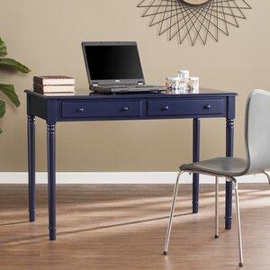 Vandever Farmhouse 2-Drawer Writing Desk - Navy