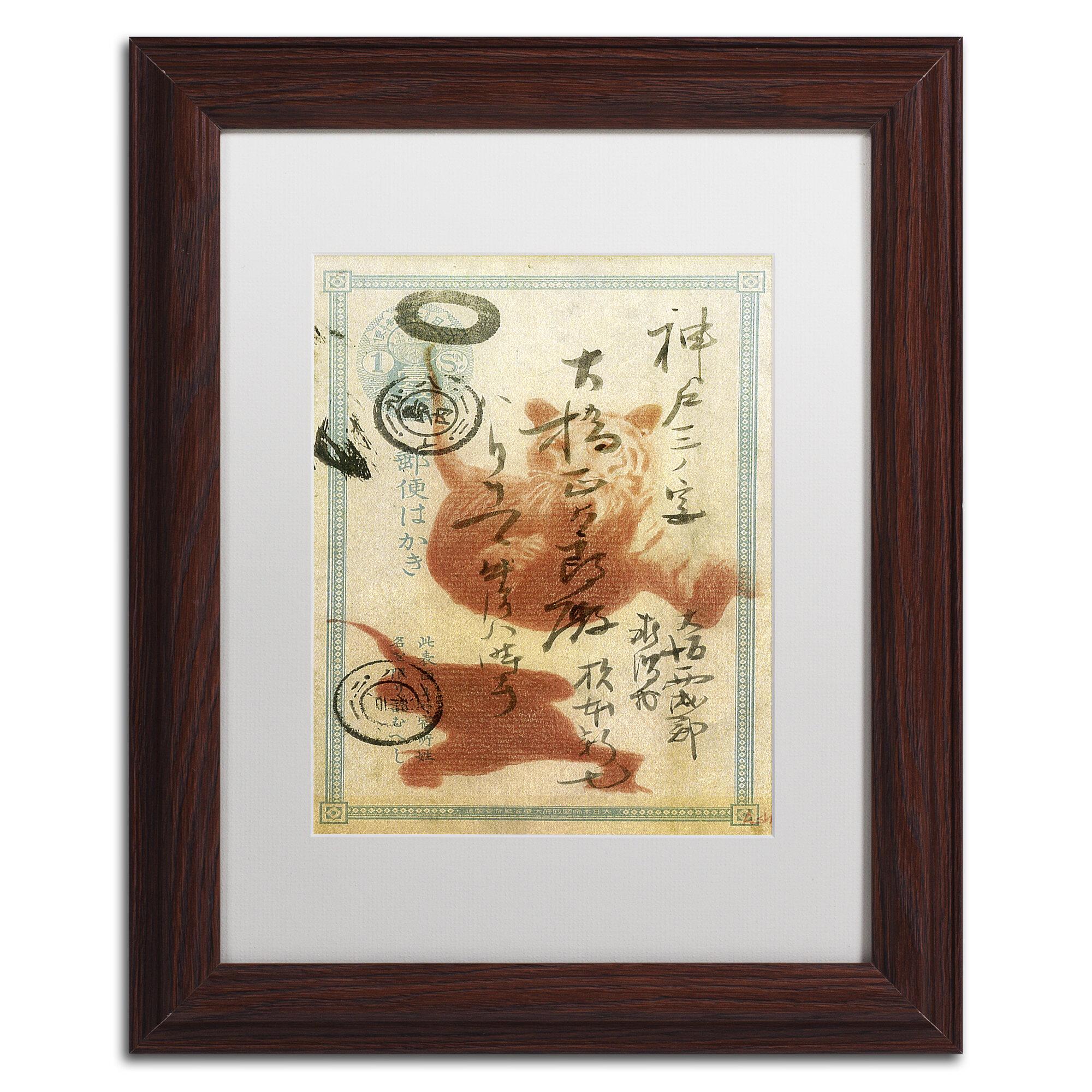 Trademark Art Japan Tiger By Nick Bantock Framed Graphic Art Wayfair