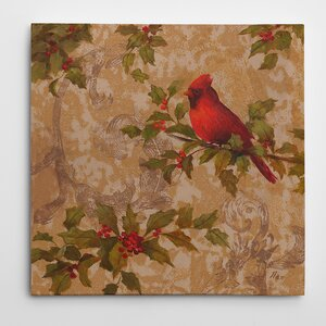 'Cardinal II' Graphic Art on Wrapped Canvas