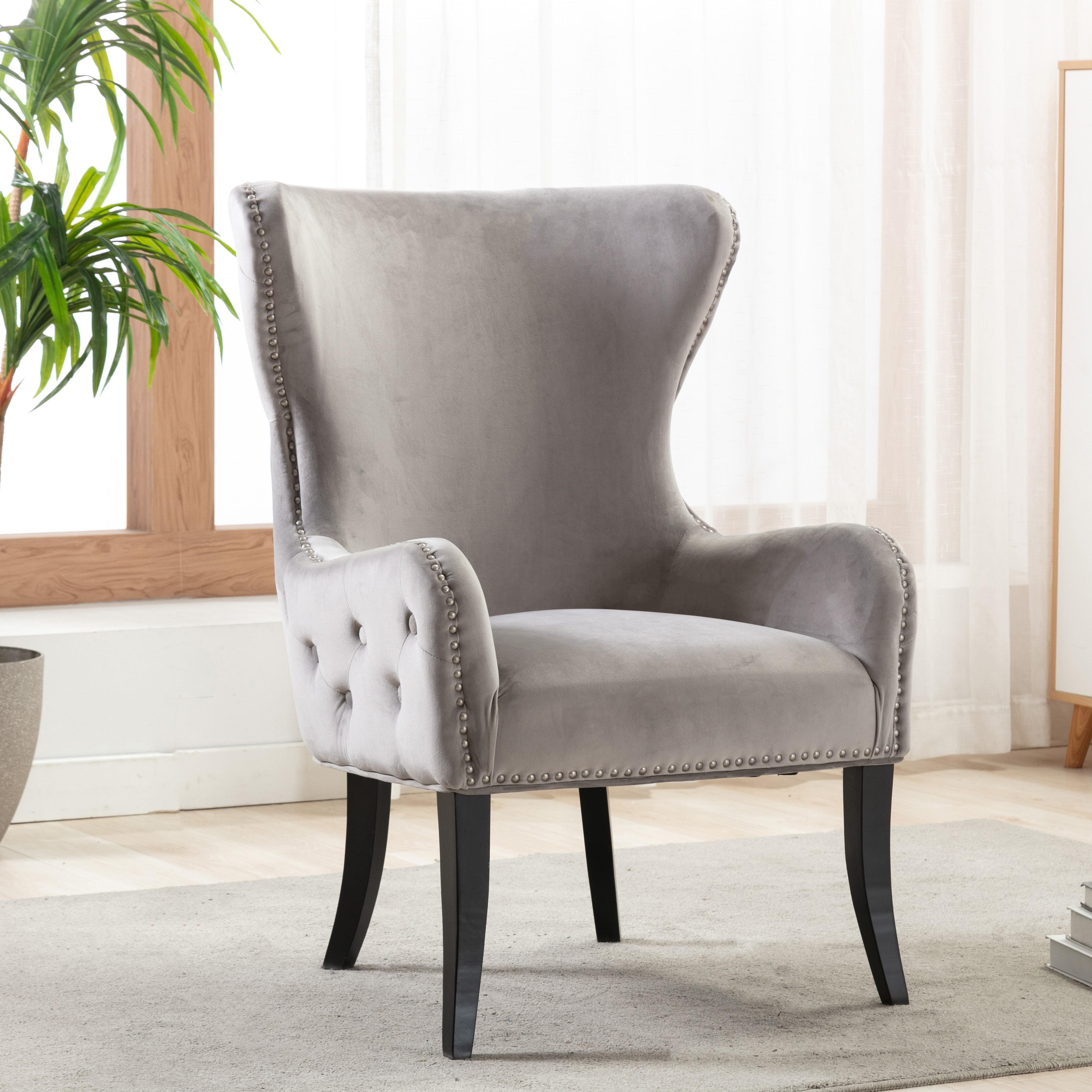 Rosdorf Park Ishaan Wingback Chair Reviews Wayfair