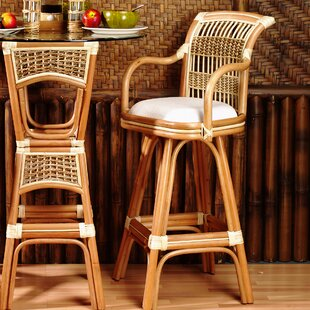 Read Reviews Spice Islands 30 Swivel Bar Stool (Set of 2) By Spice Islands Wicker
