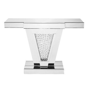 Latrell Rectangle Crystal Console Table by Rosdorf Park
