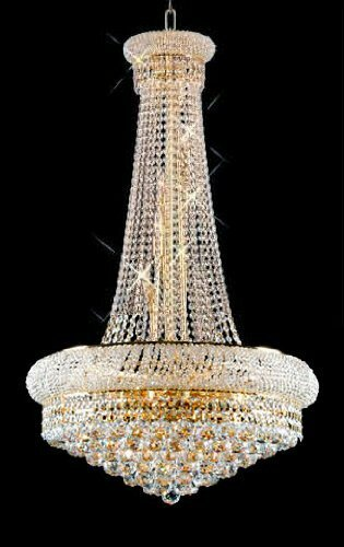 Stanton Trimmed French 15 Light Empire Crystal Chandelier