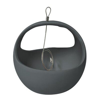 Urban Gardening Ceramic Hanging Planter Arcadia Garden Products Color: Dark Grey