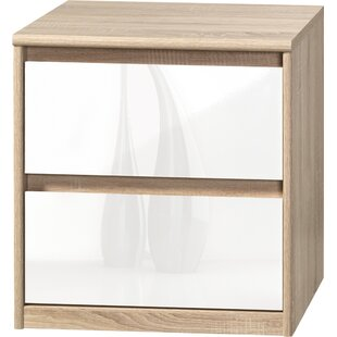 Wallner 2 Drawer Nightstand