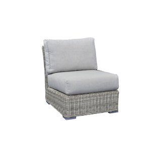 Norman Center Armless Sectional Patio Chair with Cushions