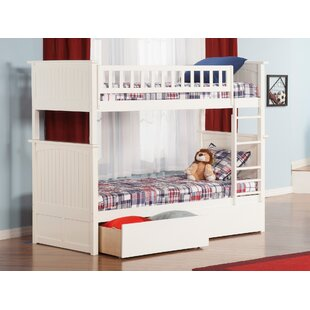 Affordable Price Abbie Twin Over Twin Bunk Bed with Drawers By Harriet Bee
