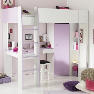 Den Helder High Sleeper Twin Loft Bed with Drawers by Zoomie Kids