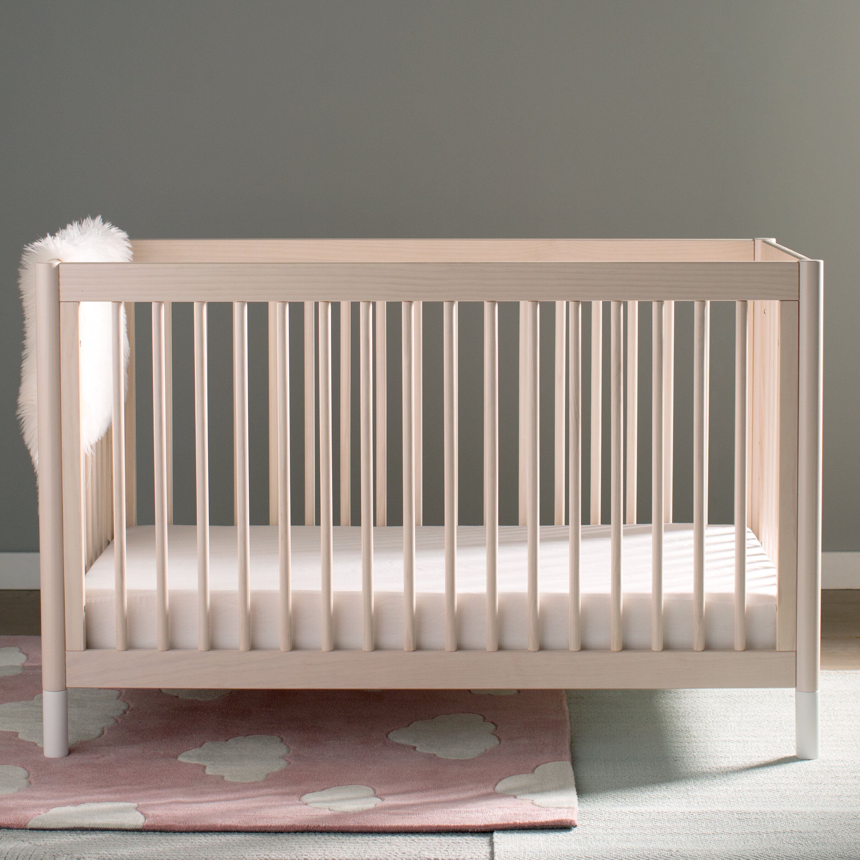 baby piper cream bedding cribs upholstered little seeds crib set