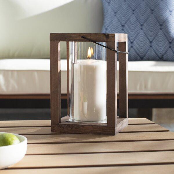 Loon Peak Rustic Wooden Garden Lantern Amp Reviews Wayfair