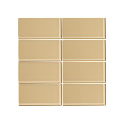 Giorbello 3 X 6 Gl Subway Tile In Beige Reviews Wayfair
