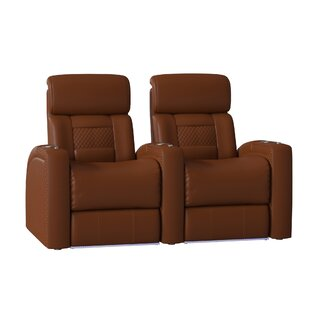 Diamond Stitch Home Theater Row Seating (Row Of 2) by Latitude Run Comparison