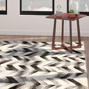 Bargain Willow Chevron Gray/Black Area Rug By Langley Street
