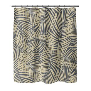Compare prices Isaac Palm Pom Shower Curtain ByBayou Breeze